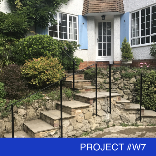Supplying And Installing Outdoor Handrails, Outdoor Wooden Handrails For Concrete Steps Uk